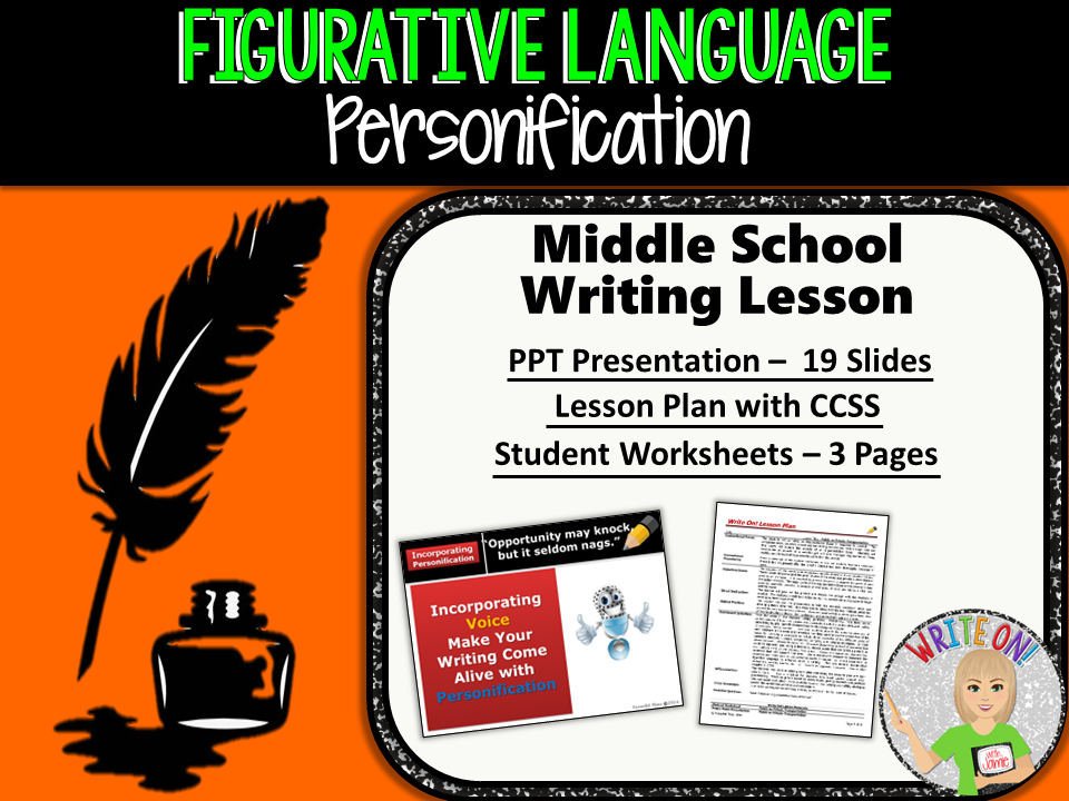 PERSONIFICATION - Figurative Language Lesson - Middle School