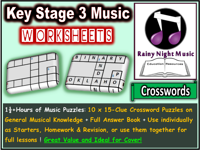 Music Worksheets Crossword Puzzles