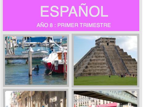 Yr 8 Booklet. Spanish travel unit.