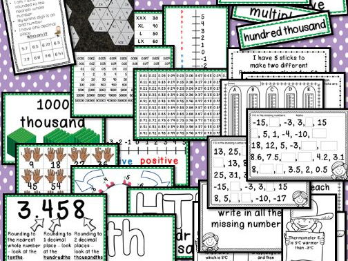 Interactive Place Value Displays & Challenge Table Activities Year 5 Number
