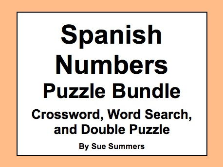 Spanish Numbers Puzzles Bundle of 3