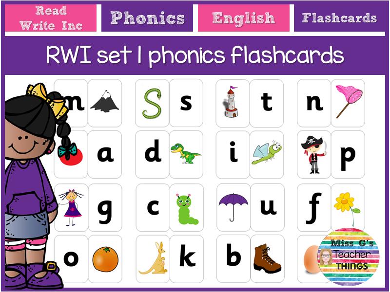 RWI set 1 sound flashcards
