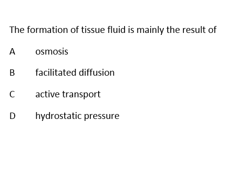 A Level Biology Cardiovascular System 1 Questions with Answers