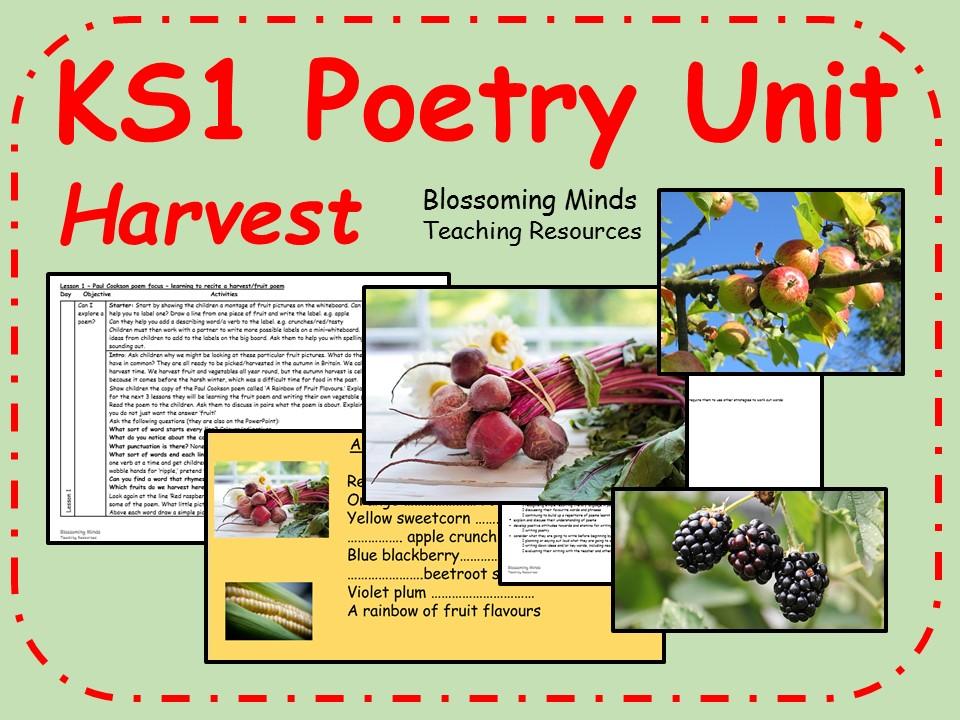 KS1 poetry 3 lesson unit - Harvest