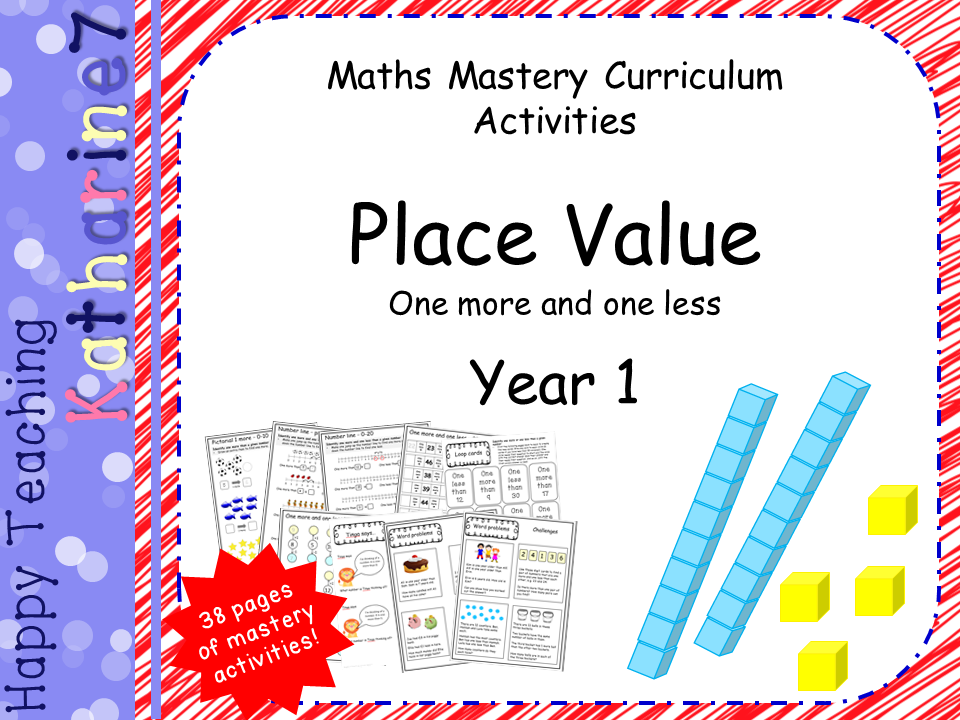 Place value mastery - Year 1 - 1 more and 1 less
