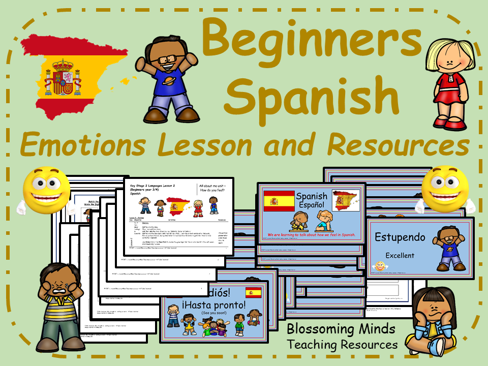 Spanish lesson and resources : Emotions and feelings