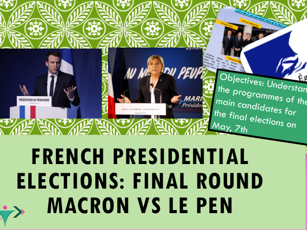 French Election Final Round : Macron Versus Le Pen (Lesson + student booklet)