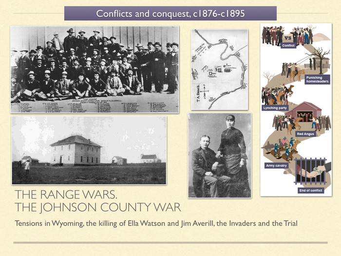 GCSE History of American West in 1800s Unit 3 The Johnson County War
