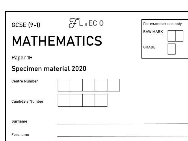 GCSE (9-1) Maths Practice paper 1H