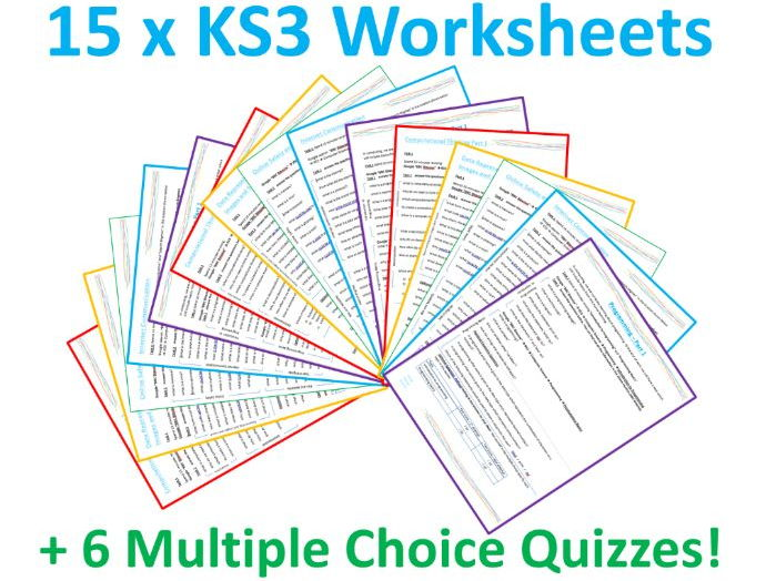 KS3 Computing Worksheets x15 and Quizzes x6