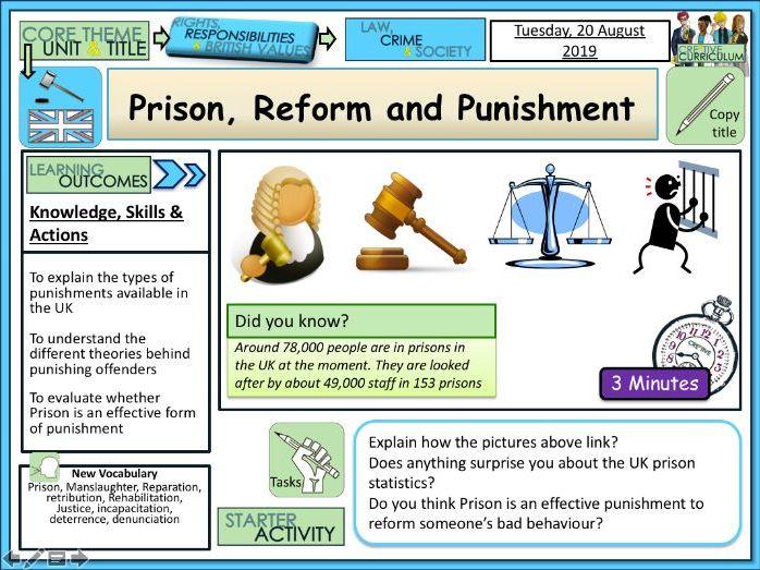 Prison Reform and Punishment
