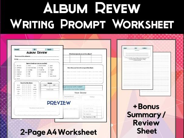 Album Review Worksheet