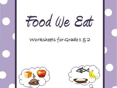 Food Sources - Grouping Food & the Food Pyramids worksheet for Grade 1