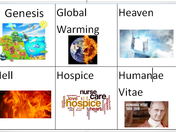 GCSE Edexcel B Christianity Matters of Life and Death Keyword and Definition Revision Flashcards