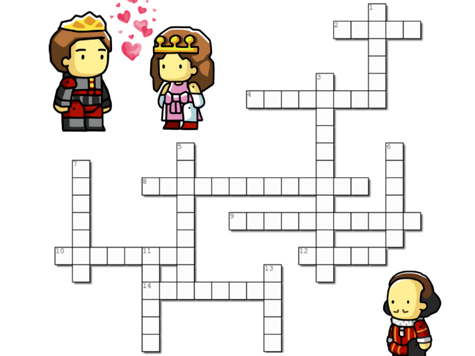 English Literature: Romeo and Juliet Character Quotes Crossword