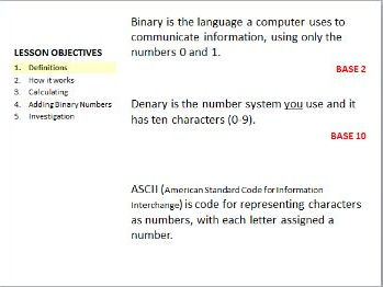 Binary, Deary and ASCII