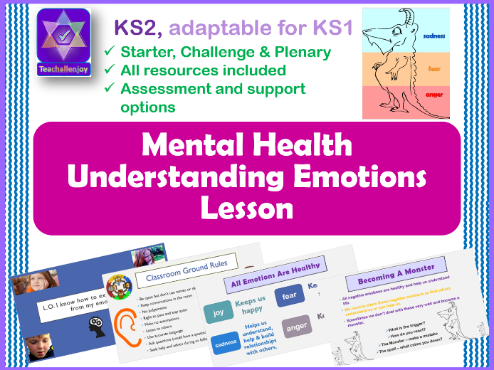 Understanding Emotions Mental Health PSHE Lesson