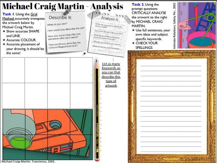 Michael Craig Martin Cover Work / Homework Sheet