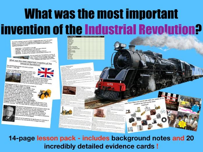 Industrial Revolution Dragon's Den - 14 page lesson pack