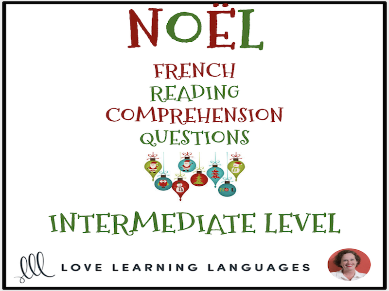Noël - Christmas - French reading comprehension questions