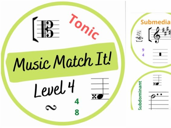 Music Match It Grade 4 Dobble Style Music Theory Card Game