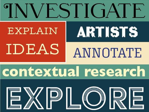 GCSE ART & DESIGN Assessment Objective posters