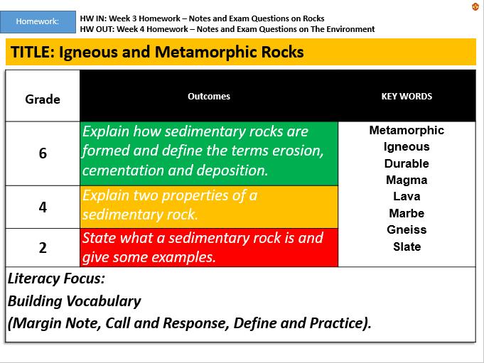 KS3: Igneous and Metamorphic Rocks