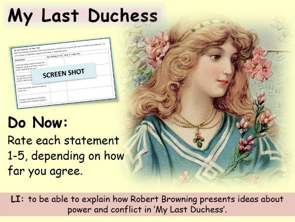 My Last Duchess for Lower Ability