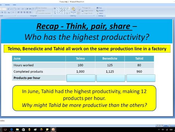 Cost effective operations (productivity) - GCSE Business