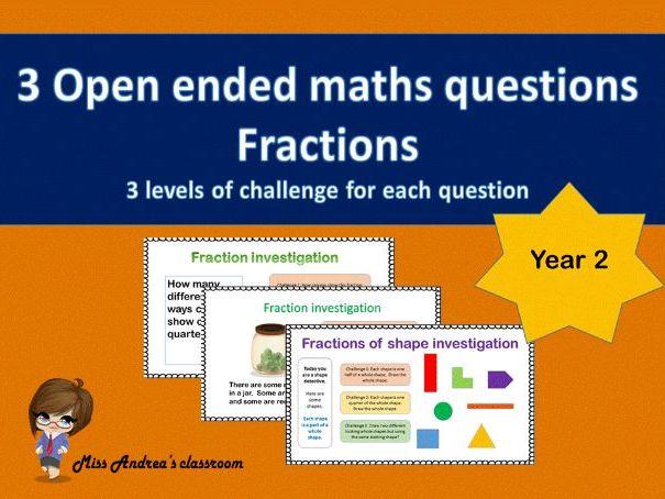 3 Open ended fraction investigations