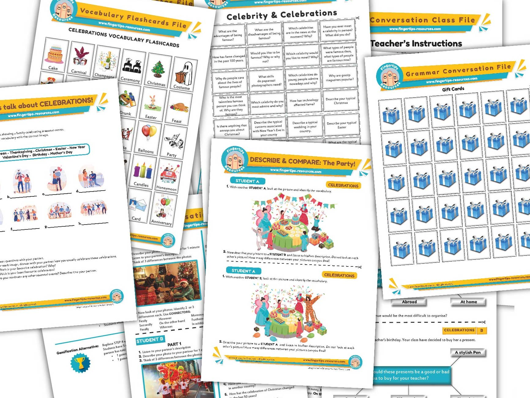 Celebrations & Parties Unit - ESL Activities Bundle
