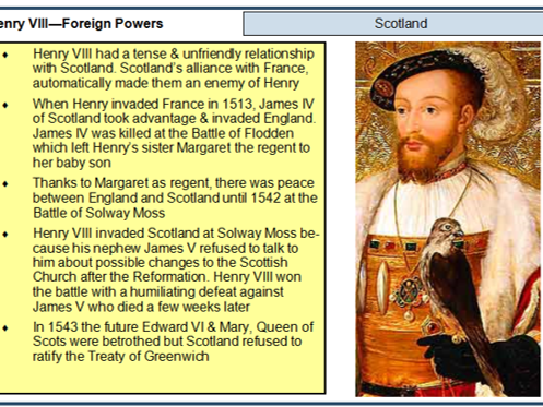 A Level History Henry VIII revision flashcards (AQA spec)