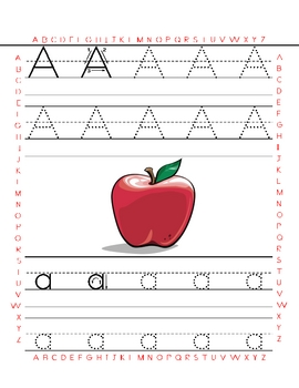 Alphabet and Numbers Tracing worksheets in English