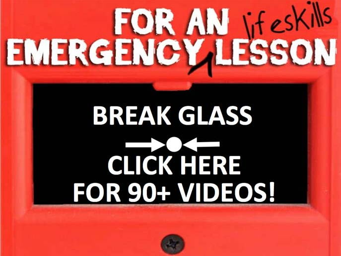 Emergency Lifeskills Lessons - over 90 YouTube videos in one easy PowerPoint