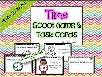 Time Scoot for 2nd and 3rd Grade