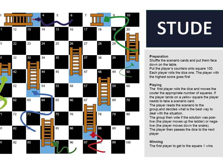 Emotional intelligence and transition lesson and snakes and ladders