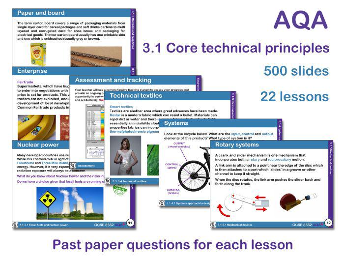 AQA GCSE Design and Technology 3.1: Core Technical Principles