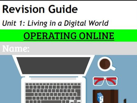 GCSE ICT Revision workbook 3: Operating Online