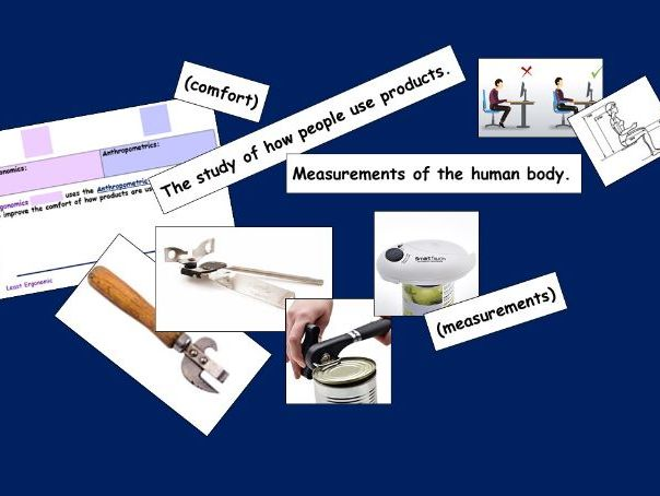 Ergonomics and Anthropometrics Card Sort