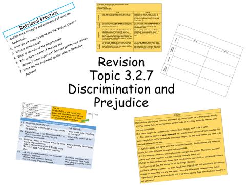 Gender/Prejudice/Evaluation Skills/Revision Edecel Spec A C.C
