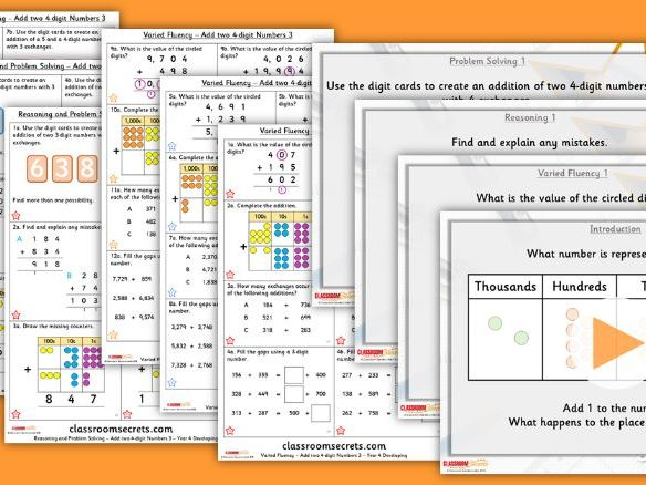 Year 3 Add two 4-digit Numbers 3 Autumn Block 2 Step 4 Lesson Pack