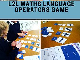 Math Language - Number (+ x -) Operators Language Matching GAME for 9 - 16 year olds