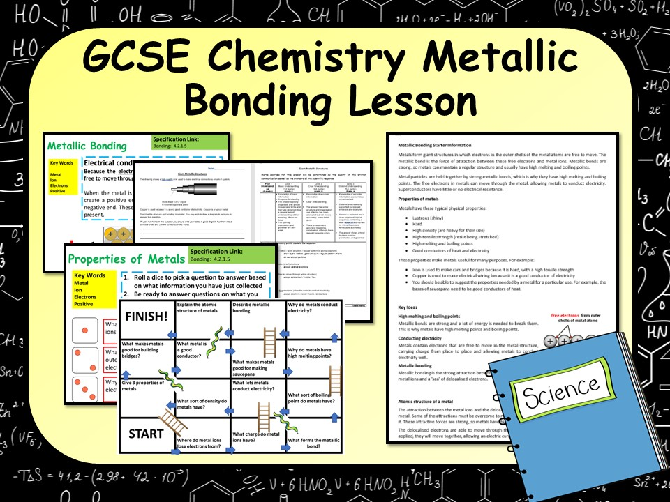KS4 AQA GCSE Chemistry (Science) Metallic Bonding Lesson