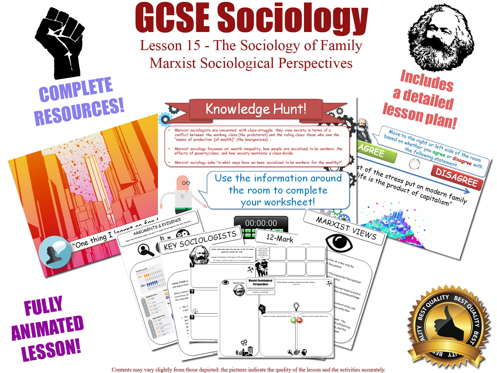 GCSE Sociology - Marxist Perspectives Bundle (AQA) 4 Complete lessons