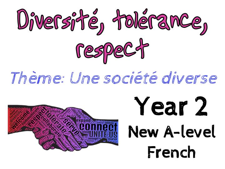 {NEW French A-level} Year 2 - Une société diverse - Diversité, tolérance et respect