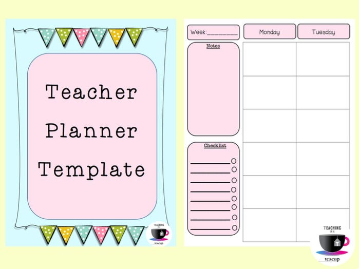 FREEBIE - Teacher Planner Templates