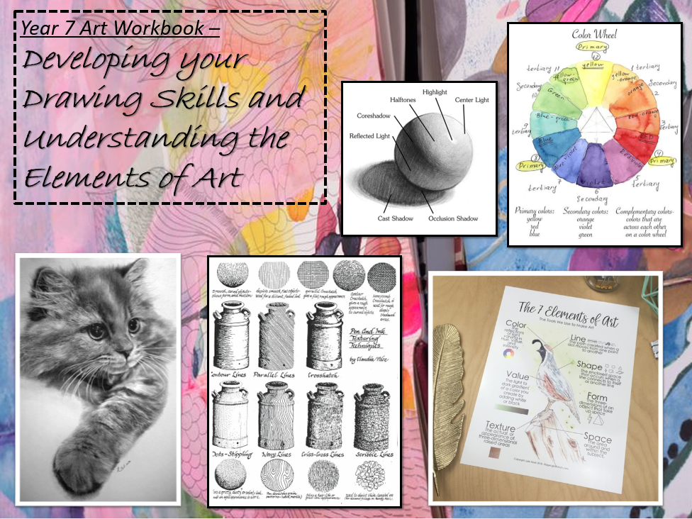 KS3 Art & Design  (Year 7/8/9) Formal Elements and Drawing Skills Project
