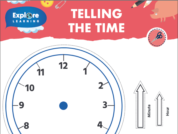 Free_ Telling the time_Learning clock template