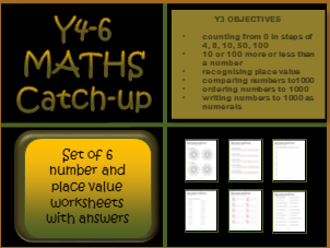 Y4-6 Maths Catch-up Worksheets