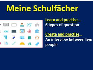 Year 7 German - School subjects